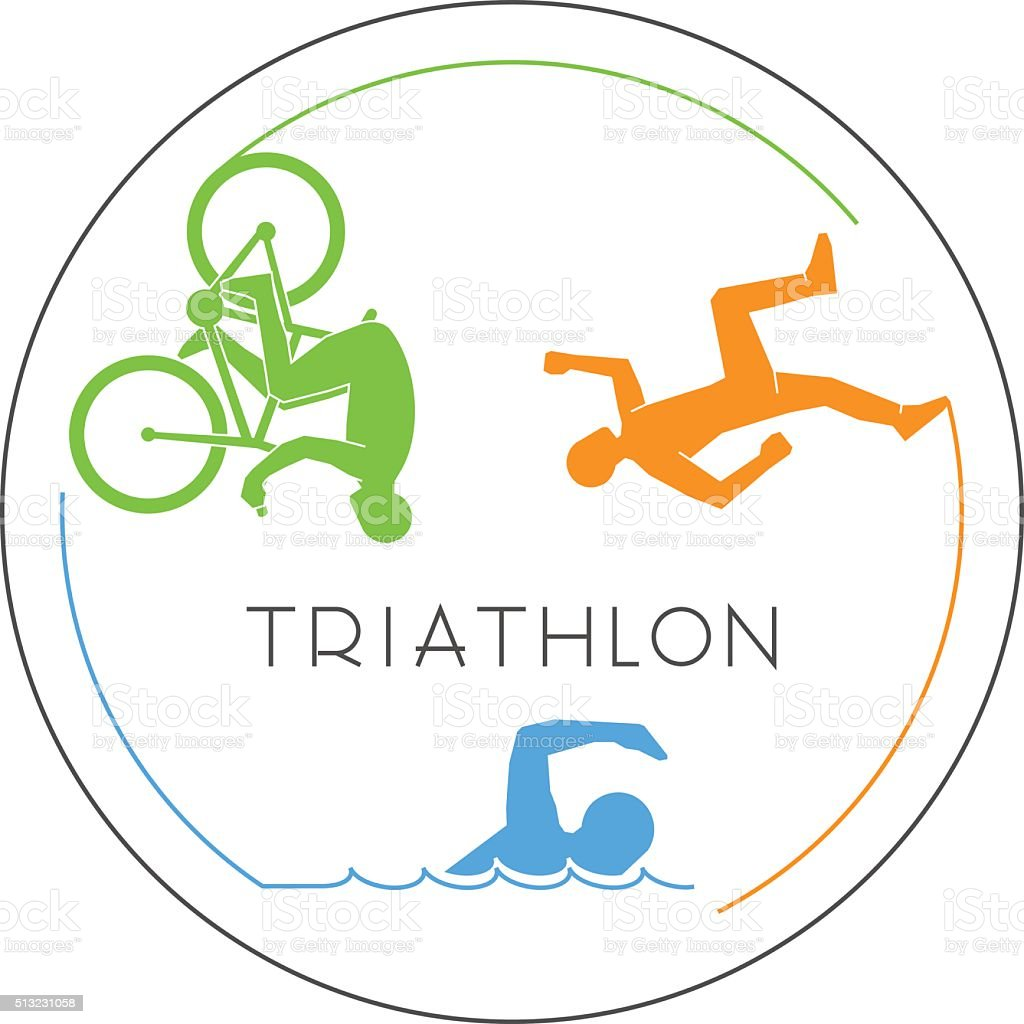 royalty free triathlon clip art vector images