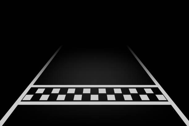 vector line racing background - start stock illustrations