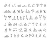Vector line sports icons