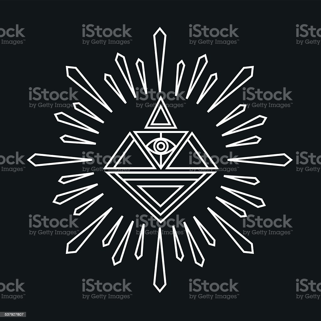 Vector linear abstract hipster logo template magical diamond stock vector linear abstract hipster logo template magical diamond royalty free vector linear abstract hipster maxwellsz