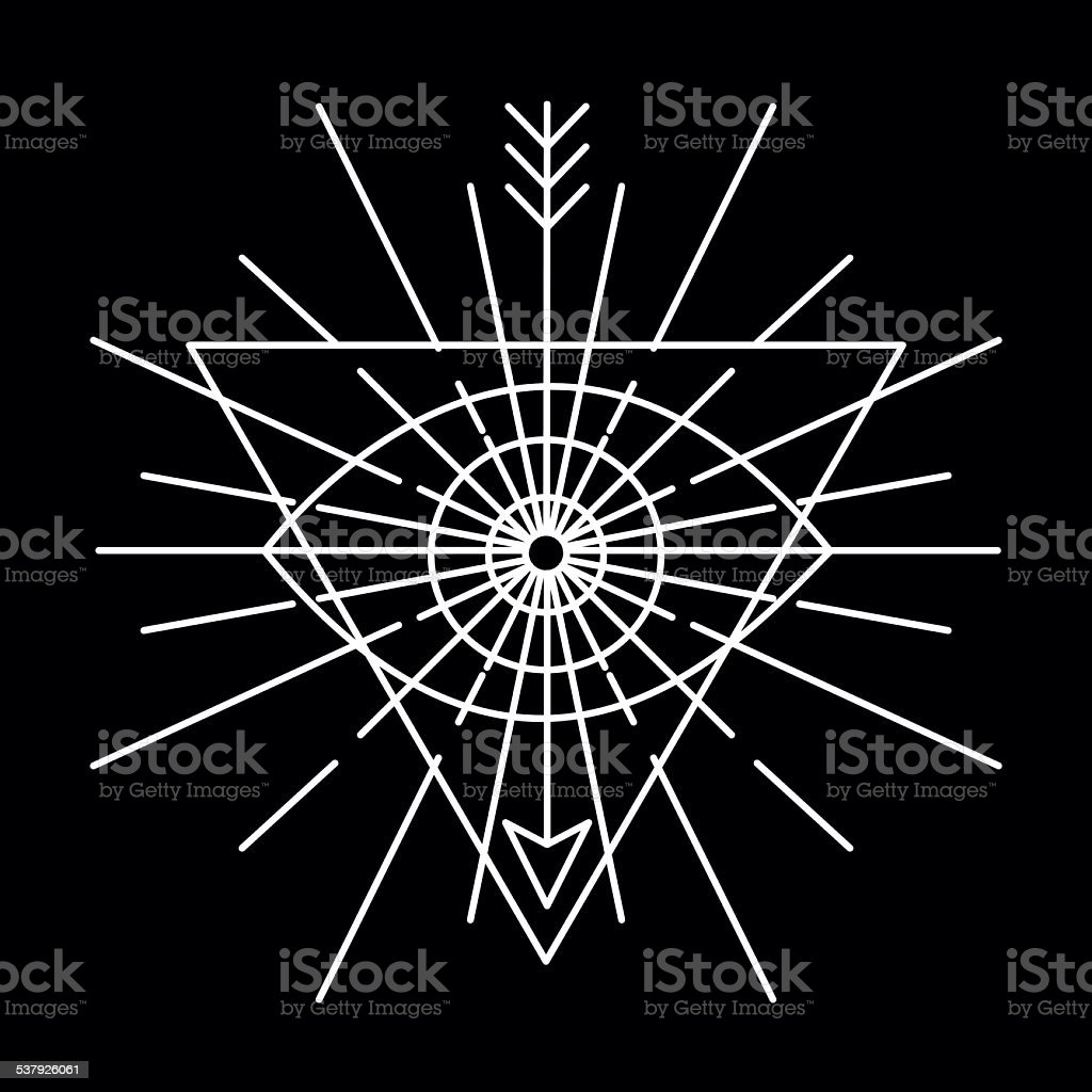 Vector Linear Emblem Abstract Hipster Logo Template Stock