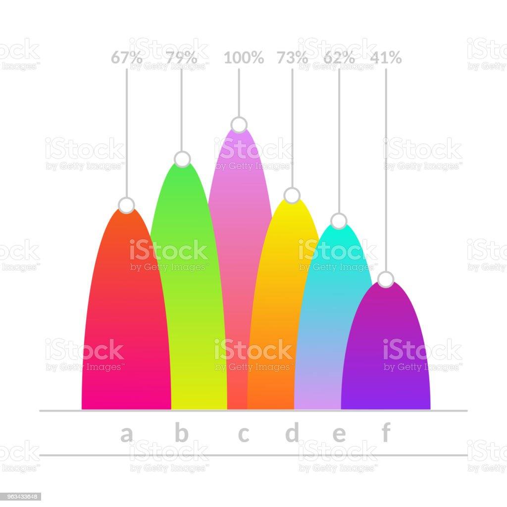 Vector linear histogram bar chart icon - Grafika wektorowa royalty-free (Abstrakcja)