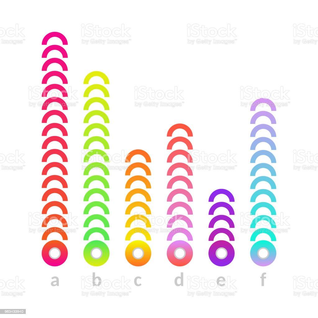 Histogramme linéaire vectoriel bar icône graphique - clipart vectoriel de Abstrait libre de droits