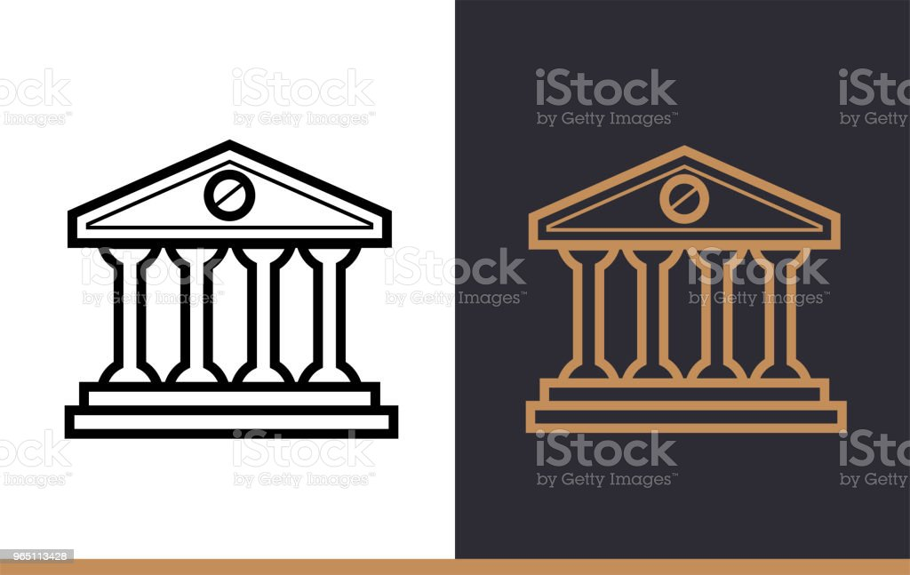 Vector linear icons BANK BUILDING of finance, banking. High quality modern icons suitable for print, website and presentation vector linear icons bank building of finance banking high quality modern icons suitable for print website and presentation - stockowe grafiki wektorowe i więcej obrazów bankowość royalty-free