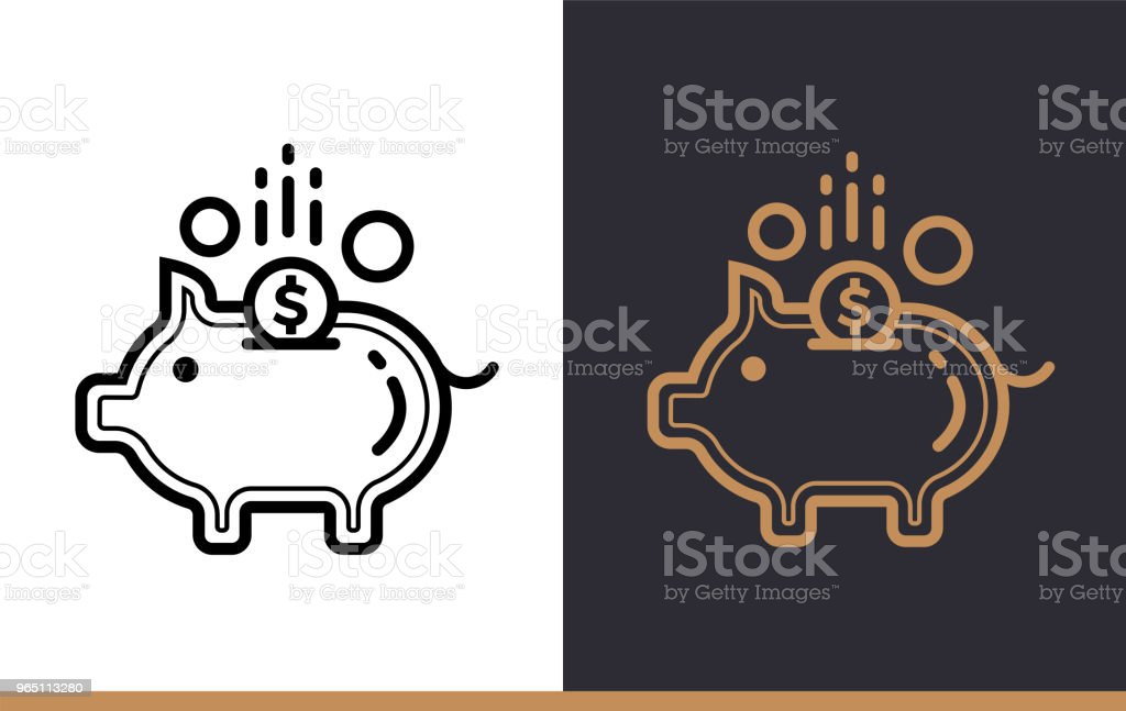 Vector linear icons PIGGY BANK of finance, banking. High quality modern icons suitable for print, website and presentation royalty-free vector linear icons piggy bank of finance banking high quality modern icons suitable for print website and presentation stock vector art & more images of banking