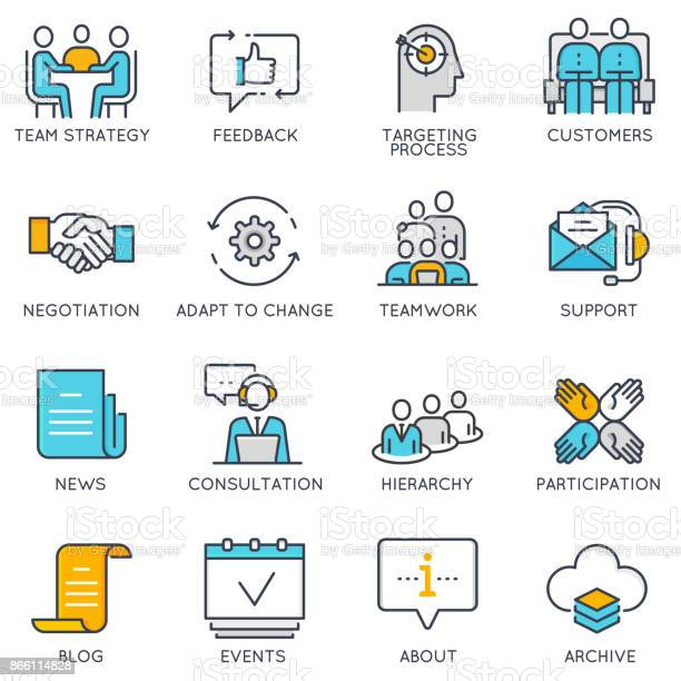 Vector linear icons related to business management and strategy vector id866114828?b=1&k=6&m=866114828&s=612x612&h=mdosrks8owrkycnod61se2umsxxebdi49aj6oej 3pm=