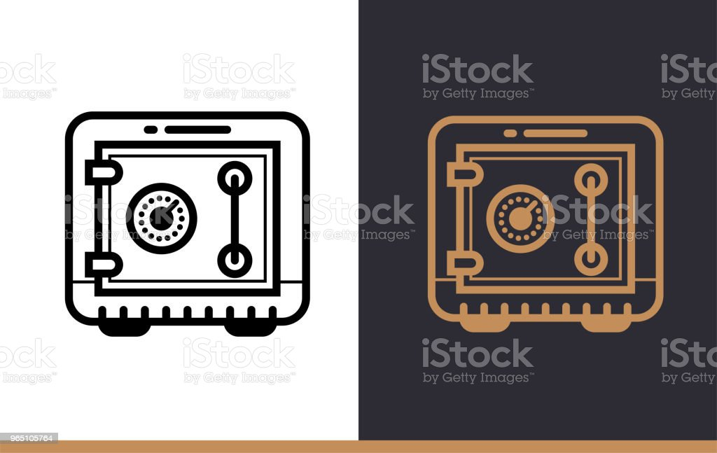 Vector linear icons SAFE BOX of finance, banking. High quality modern icons suitable for print, website and presentation royalty-free vector linear icons safe box of finance banking high quality modern icons suitable for print website and presentation stock vector art & more images of banking