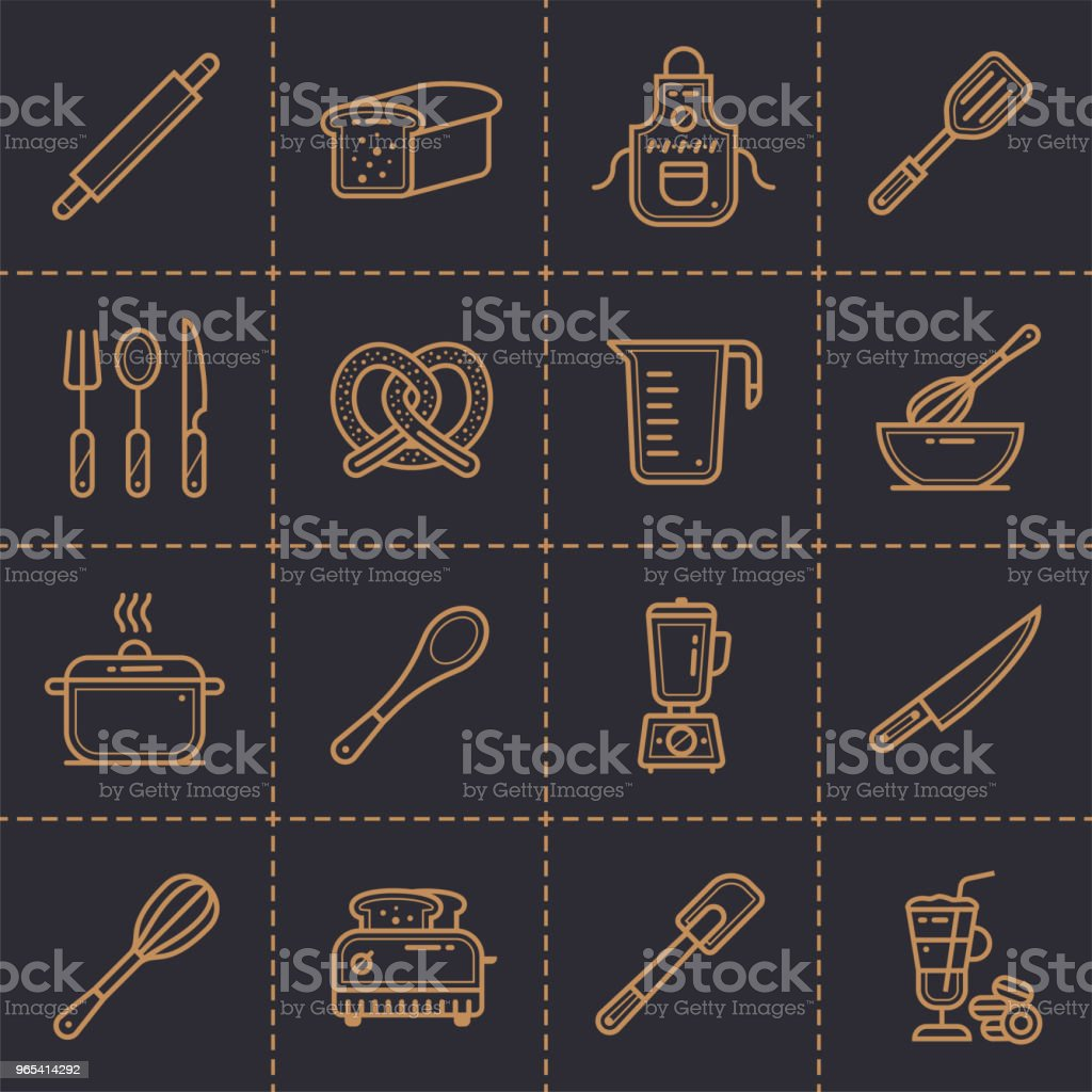 Vector linear icons set of bakery, cooking. High quality modern icons suitable for print, website and presentation vector linear icons set of bakery cooking high quality modern icons suitable for print website and presentation - stockowe grafiki wektorowe i więcej obrazów bez ludzi royalty-free