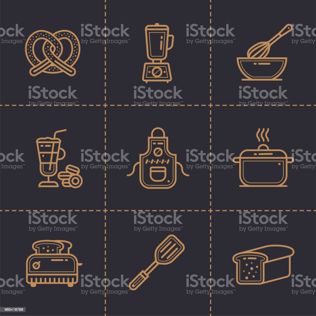 Vector linear icons set of bakery, cooking. High quality modern icons suitable for print, website and presentation royalty-free vector linear icons set of bakery cooking high quality modern icons suitable for print website and presentation stock vector art & more images of bakery
