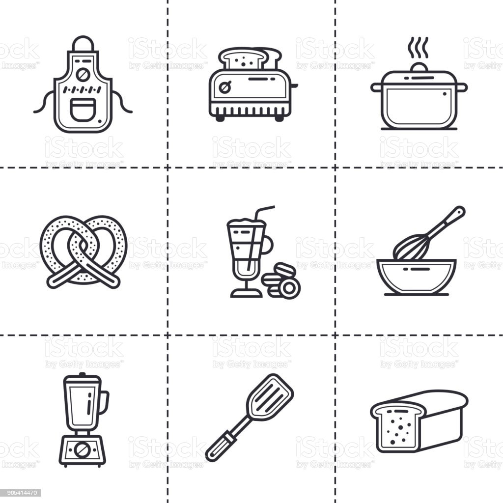 Vector linear icons set of bakery, cooking. Modern outline icons for mobile application and web concepts vector linear icons set of bakery cooking modern outline icons for mobile application and web concepts - stockowe grafiki wektorowe i więcej obrazów bez ludzi royalty-free