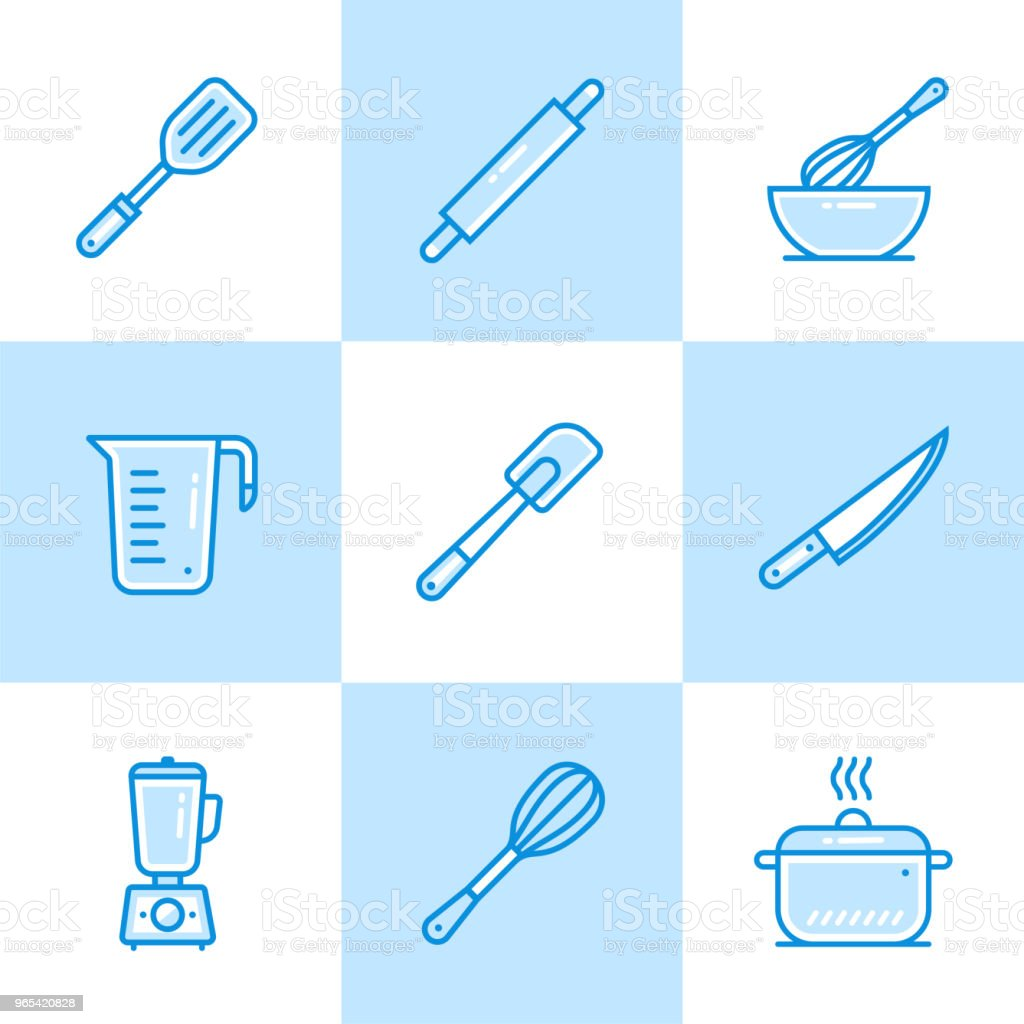 Vector linear icons set of bakery, cooking. Modern outline icons for mobile application and web concepts royalty-free vector linear icons set of bakery cooking modern outline icons for mobile application and web concepts stock vector art & more images of bakery