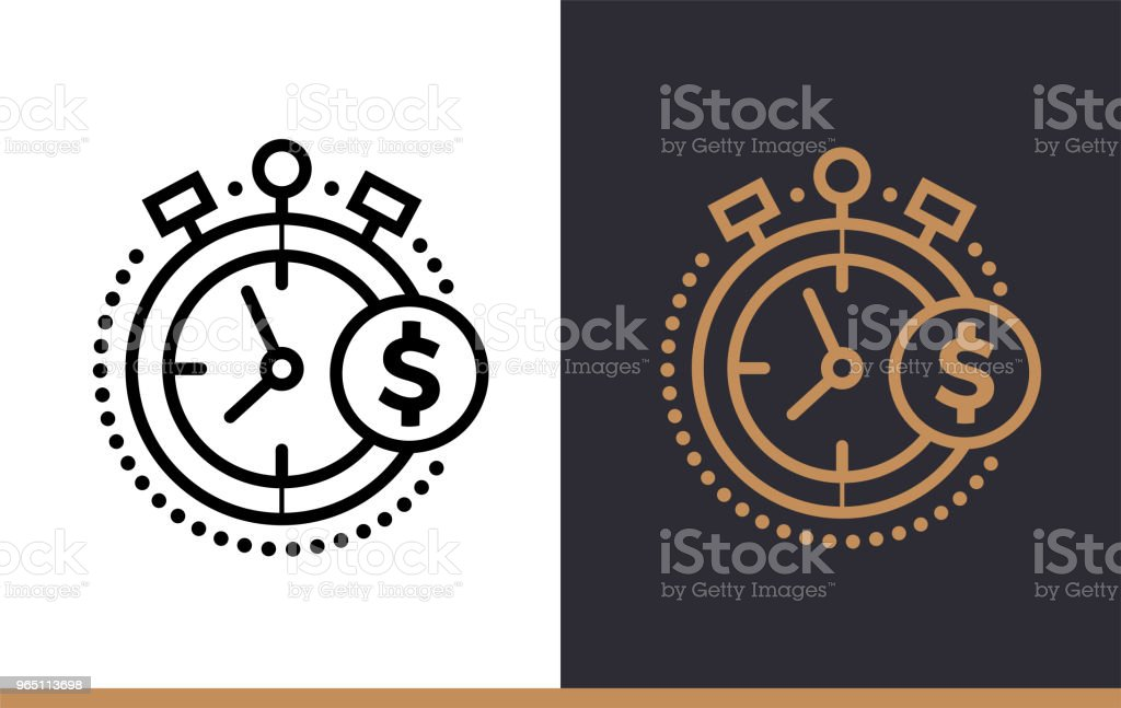 Vector linear icons TIME IS MONEY of finance, banking. High quality modern icons suitable for print, website and presentation vector linear icons time is money of finance banking high quality modern icons suitable for print website and presentation - stockowe grafiki wektorowe i więcej obrazów bankowość royalty-free
