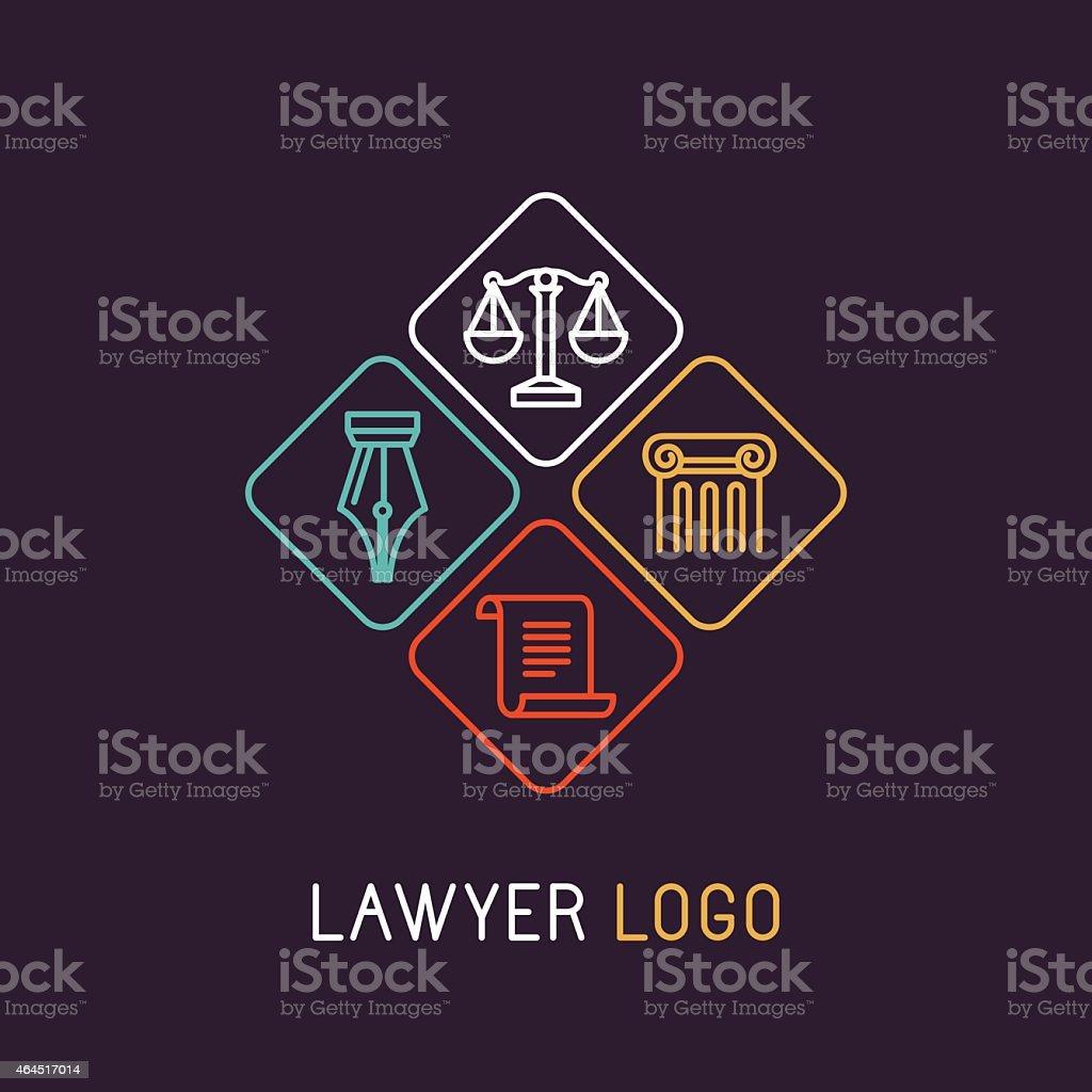 Vektor linear logo – Vektorgrafik