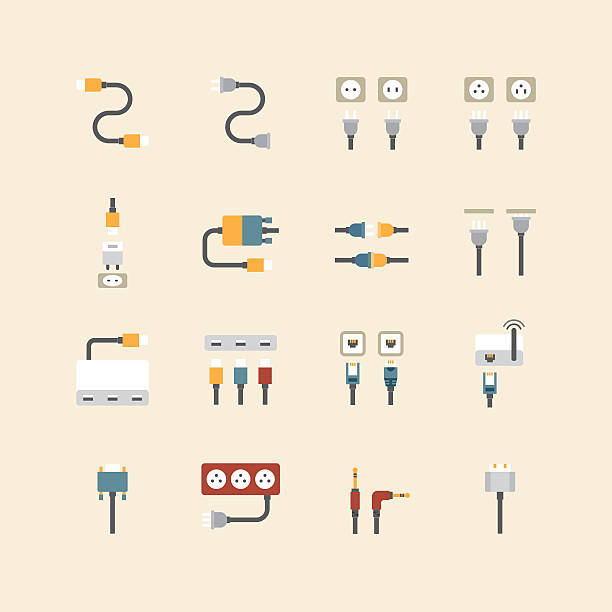 Royalty Free Network Connection Plug Clip Art Vector