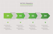 Vector lines arrows infographic. Template for diagram, graph, presentation and chart. Business concept with 4 options, parts, steps or processes.