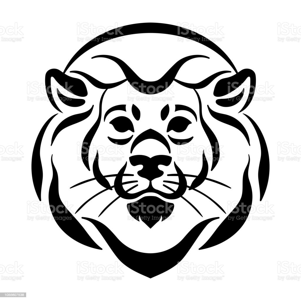 Vector Lion Face Tattoo Stock Illustration Download Image Now Istock