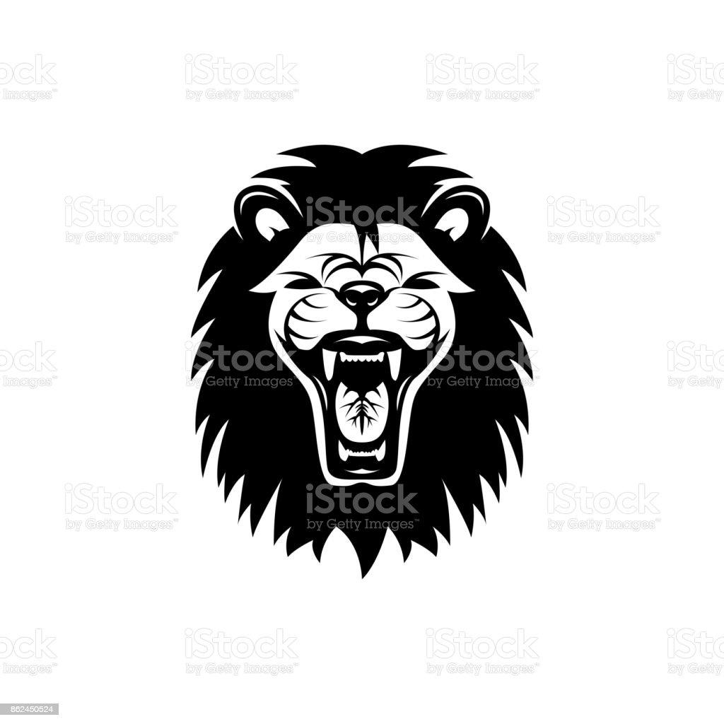 ベクトル ライオン ヘッドレトロなアイコンエンブレムバッジ顔はラベル