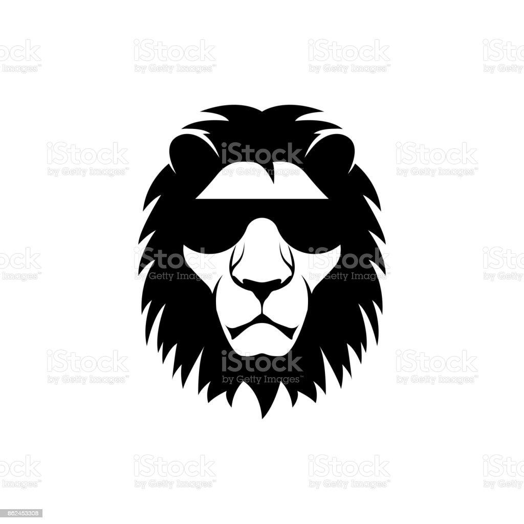 Vektor Löwenkopf Gesicht Für Retrosymbole Embleme Abzeichen ...
