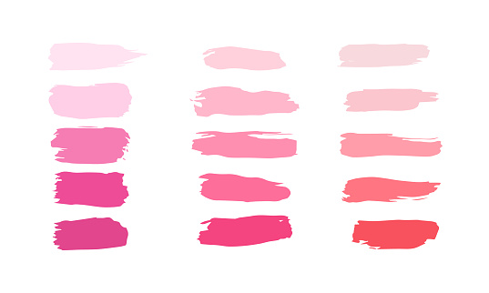 Vector lipstick smears isolated