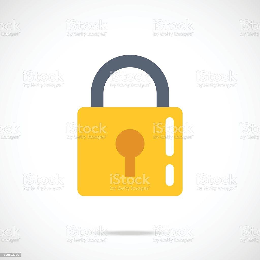 Vector lock icon. Modern flat design vector illustration vector art illustration