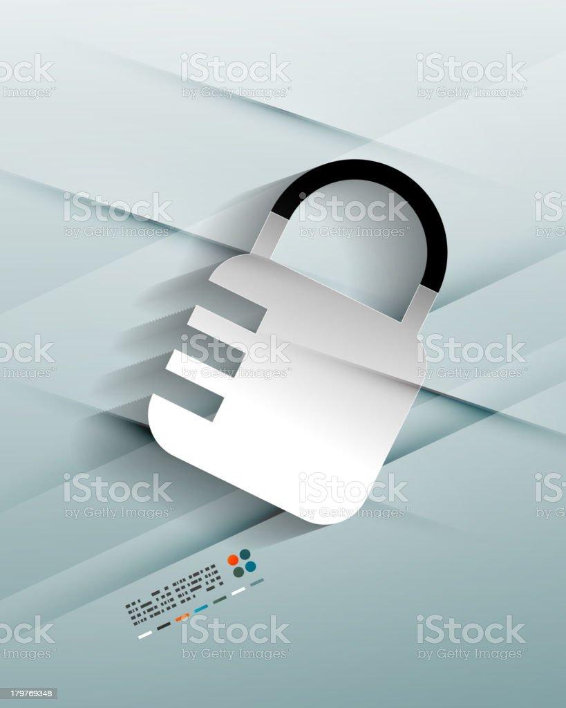 Vector lock paper background royalty-free stock vector art