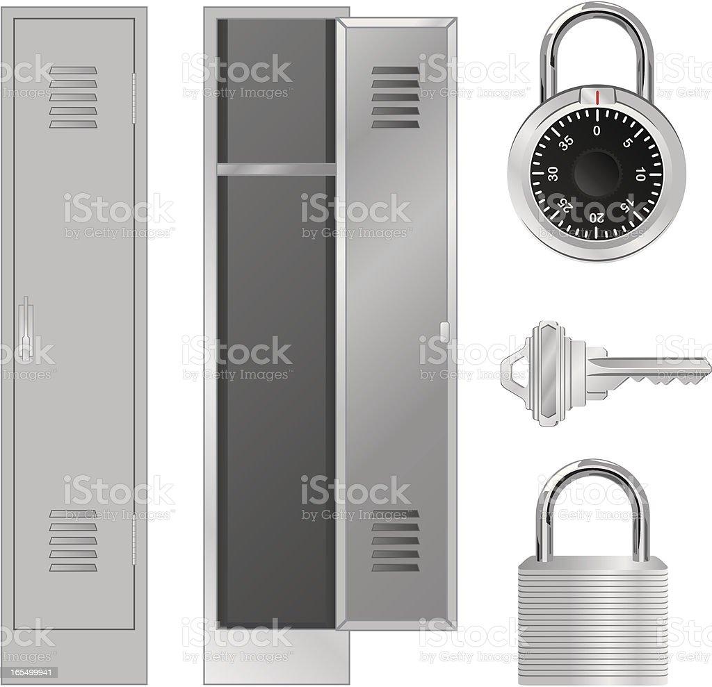 Vector Locks and Lockers vector art illustration