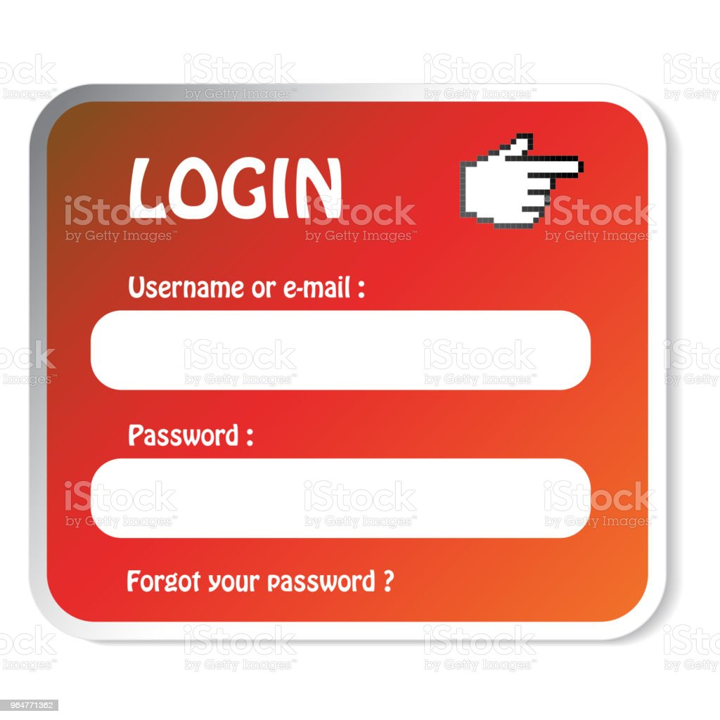 Vector login or register form, label, board. royalty-free vector login or register form label board stock vector art & more images of blank
