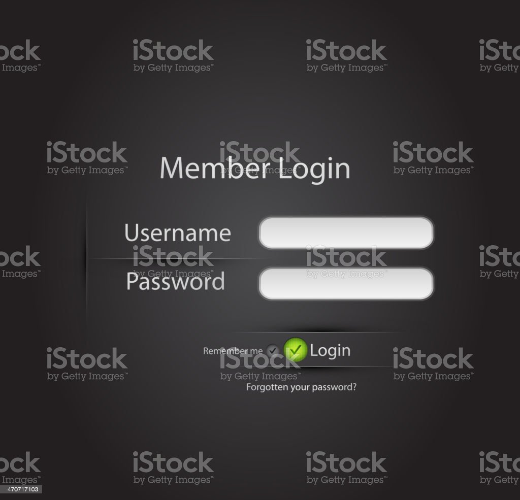 Vector login page royalty-free vector login page stock vector art & more images of abstract