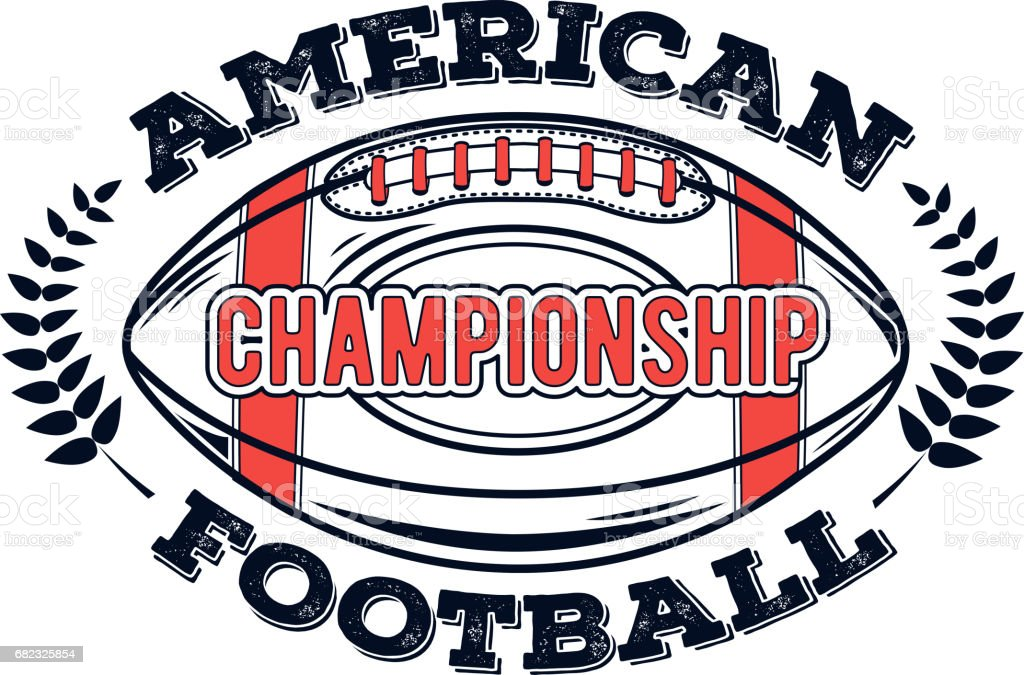 vector logo american football championship for design print and