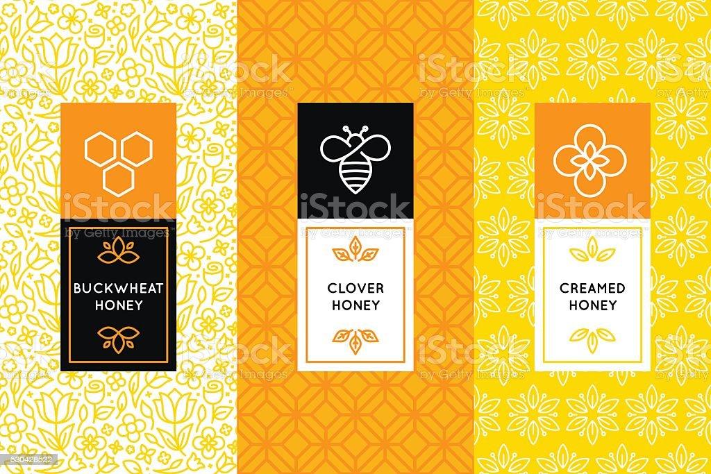 Vektor-logo und design-Vorlagen im angesagten Verpackung – Vektorgrafik