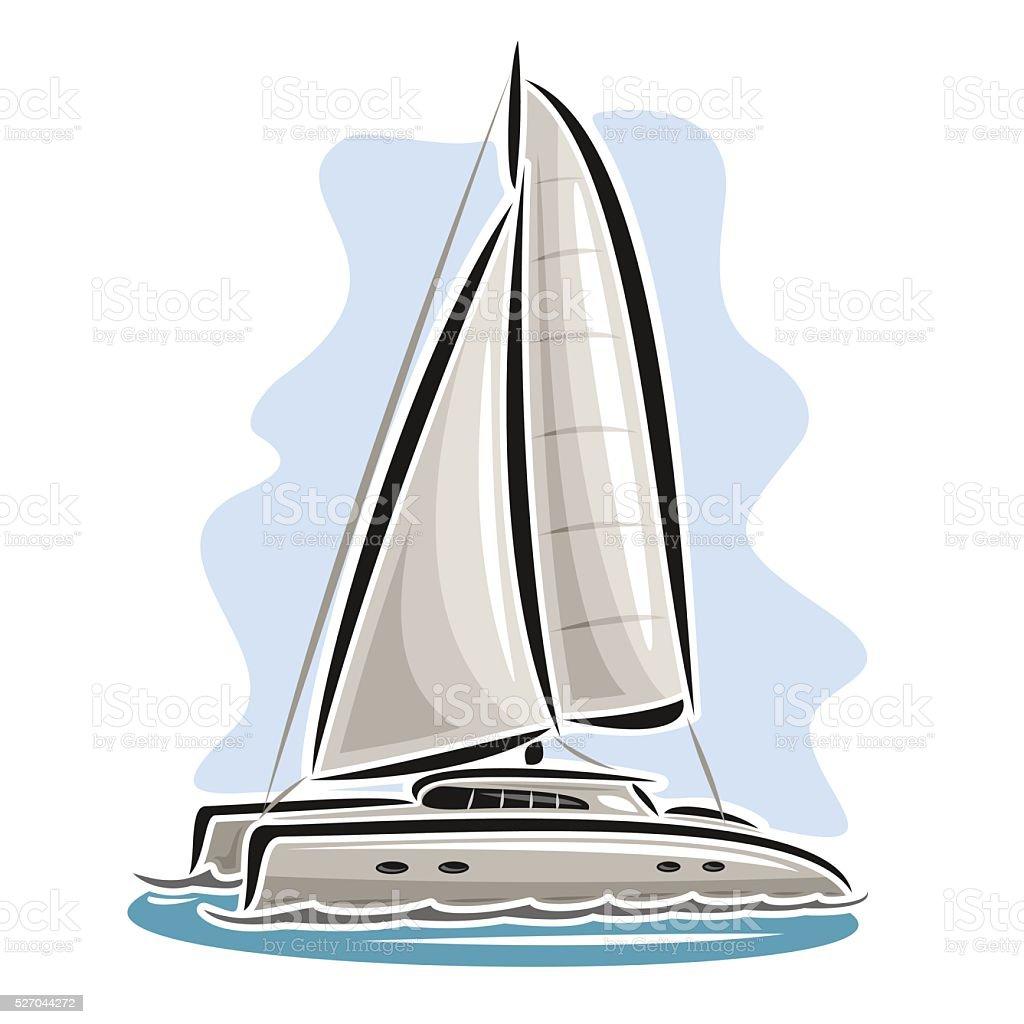 Logo Vector Dessin Anime Catamaran Vecteurs Libres De Droits Et Plus D Images Vectorielles De Abstrait Istock