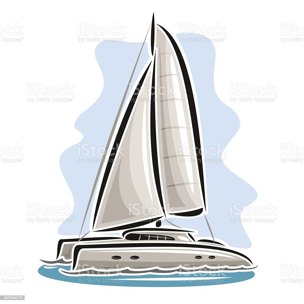 royalty free catamaran sailboat clip art vector images rh istockphoto com