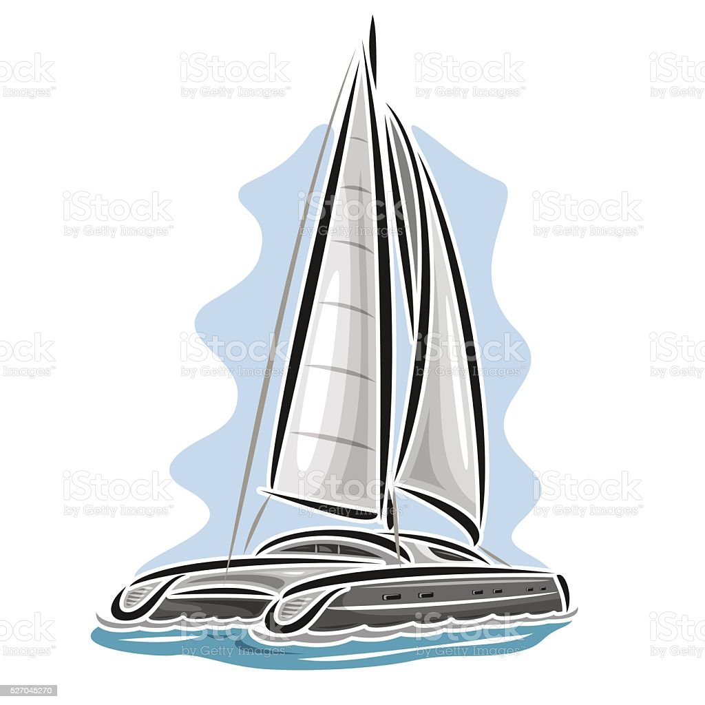 royalty free catamaran sailboat clip art vector images rh istockphoto com clipart yacht free download yacht clipart png