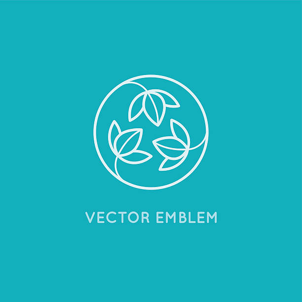 Vector logo design - cosmetics and beauty concept - Illustration vectorielle