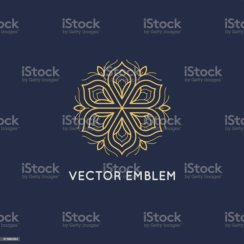 Vector logo design - luxury beauty spa concept vector art illustration