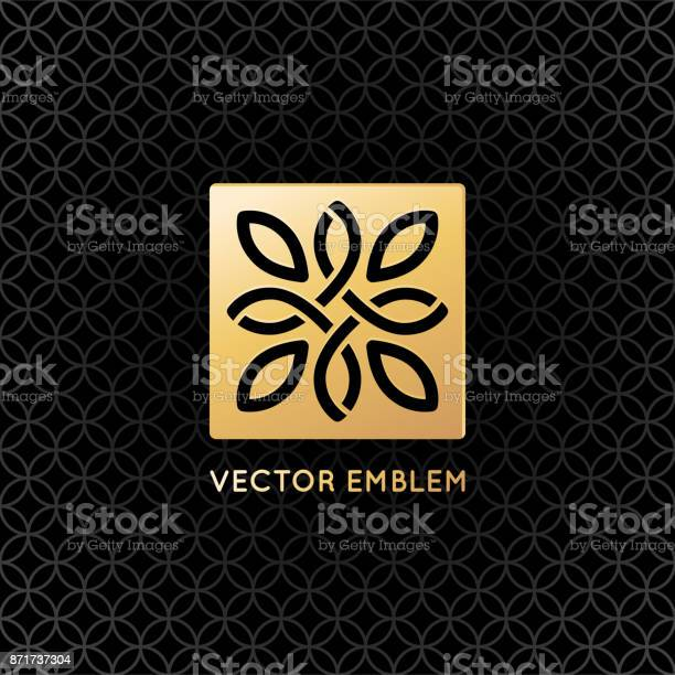 Vector logo design template and emblem with leaves and lines vector id871737304?b=1&k=6&m=871737304&s=612x612&h=bvy5awf8ku7ujmah88afmnszui2n56jw27dw9elwrx8=