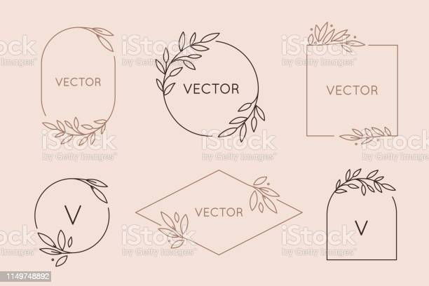 Vector logo design template and monogram concept in trendy linear vector id1149748892?b=1&k=6&m=1149748892&s=612x612&h=fvptbw67gq5x9ken9chv8mdrmzv2knmuiqkefrpqx0s=
