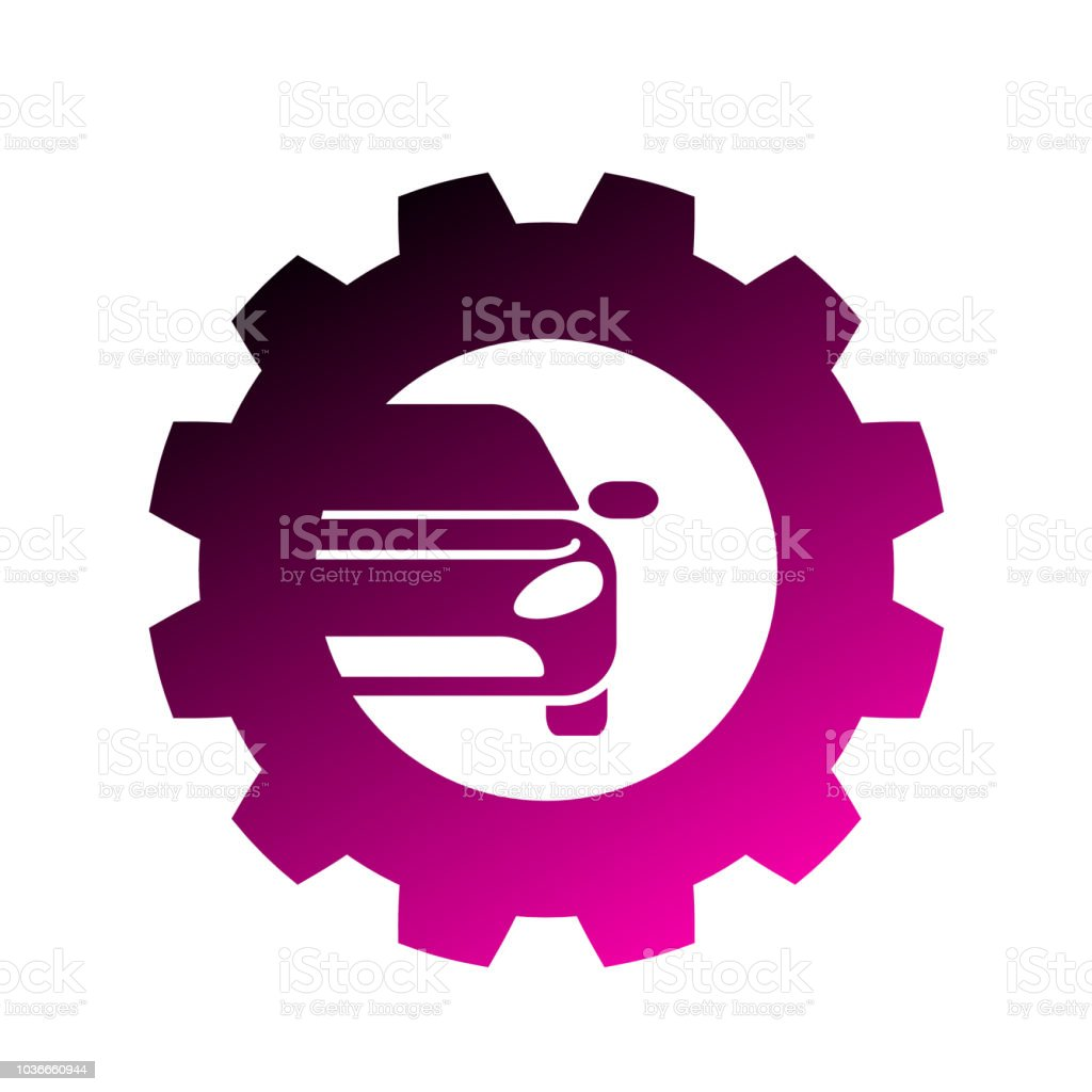 Vector Logo Design Template For Auto Parts Service With Car