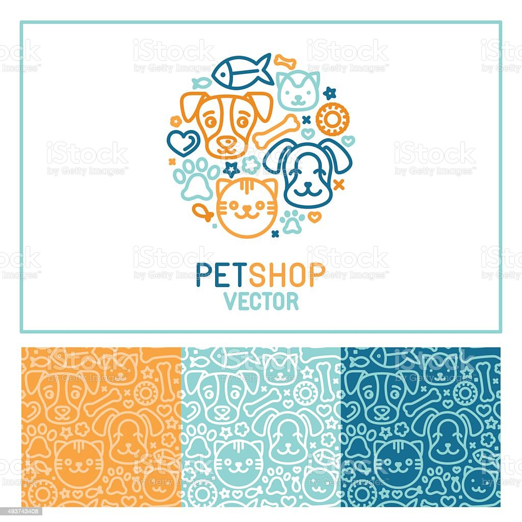 Vector logo design template for pet shops
