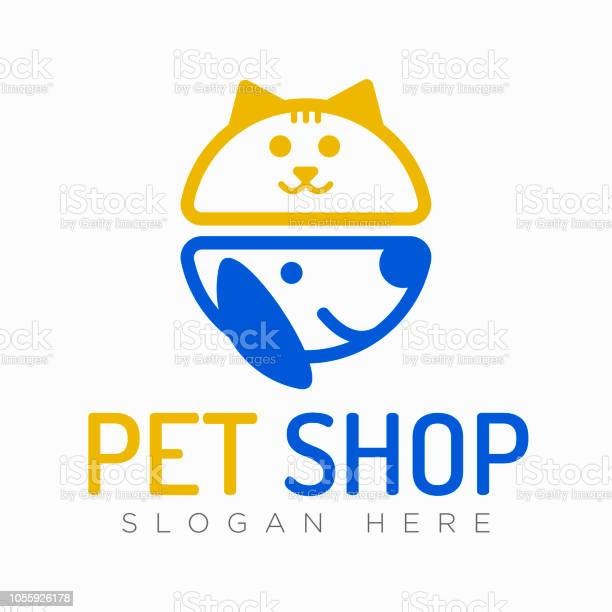 Vector logo design template for pet shops veterinary clinics and vector id1055926178?b=1&k=6&m=1055926178&s=612x612&h=l30h5lsc4 0acrscnptoypz voaij7vqjeylegxn50g=