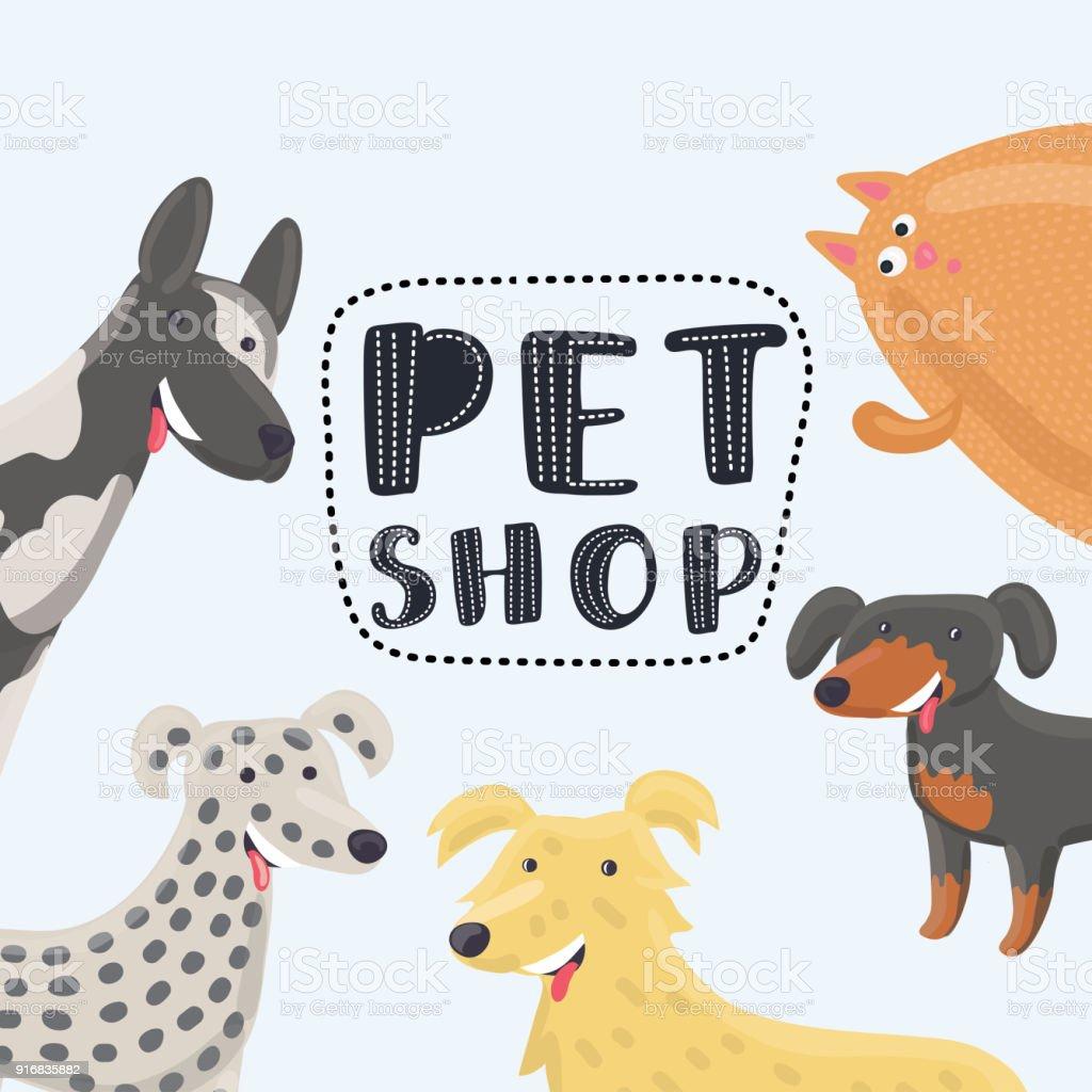 Vector Logo Design Template For Pet Shops Veterinary Clinics