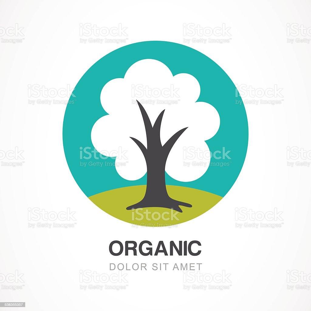 Vectoriel Logo Design Modèle Cercle Vert Arbre Illustration ...