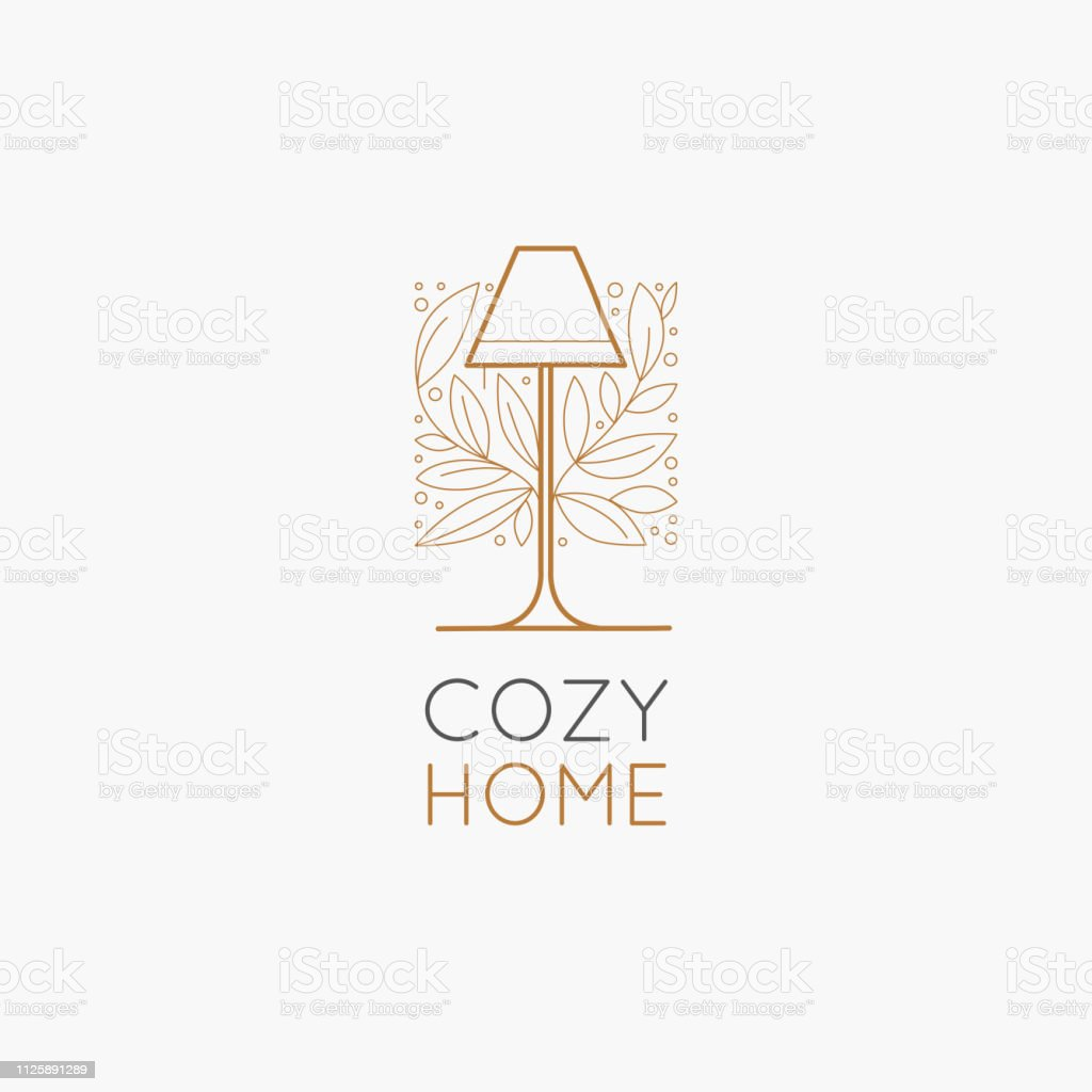 Vector Logo Design Template In Simple Linear Style Home Decor Store Emblem Stock Illustration Download Image Now Istock