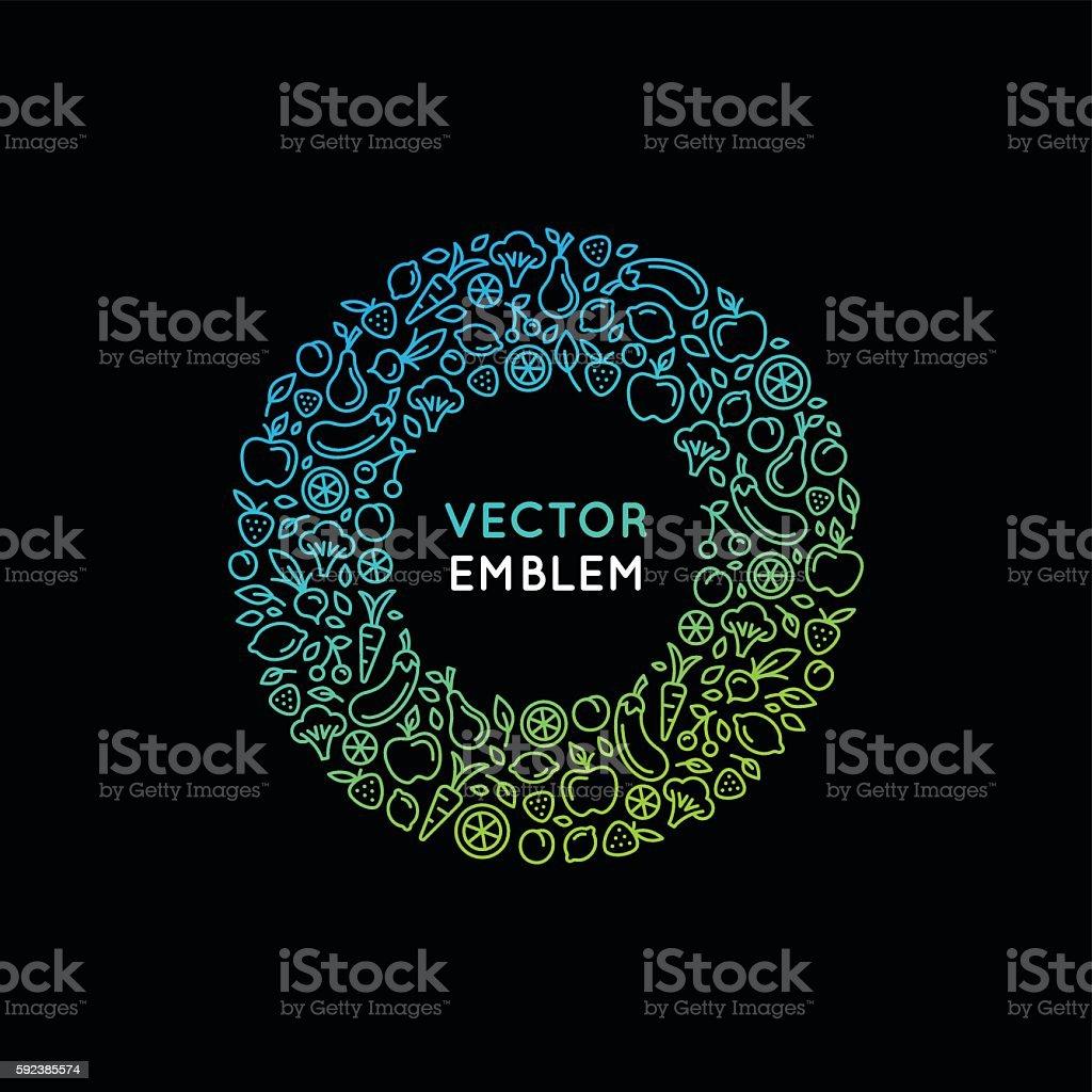 Vector logo design template en estilo moderno, lineal - ilustración de arte vectorial