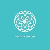 Vector logo design template - rose flower