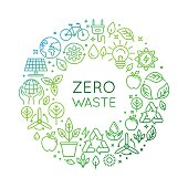 Vector logo design template - zero waste concept
