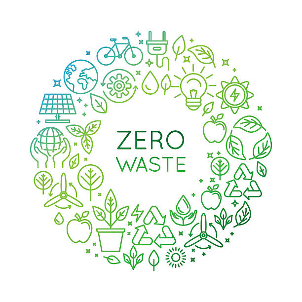 vector logo design template - zero waste concept - sustainability stock illustrations