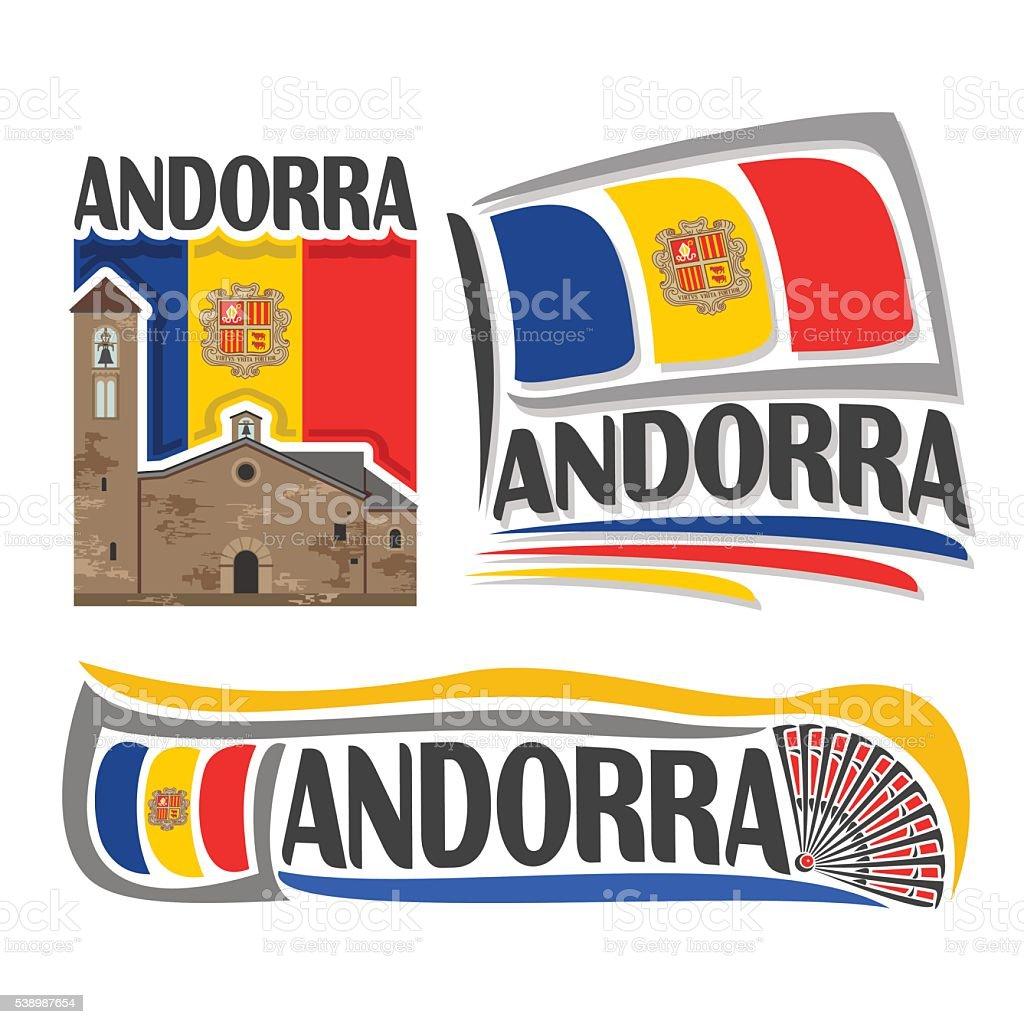 Vector logo for Andorra vector art illustration
