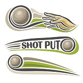 Vector logo for athletics shot put