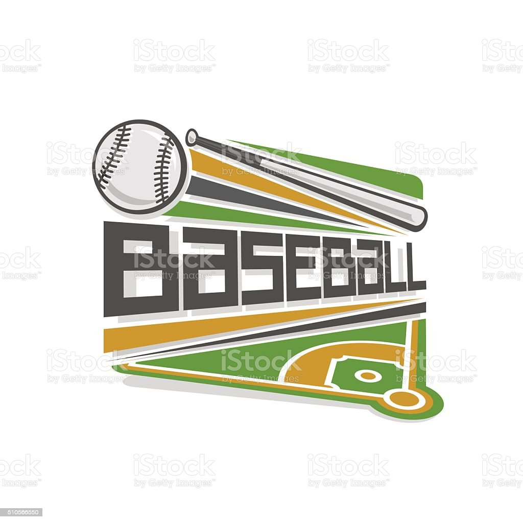 Vector logo for baseball sport vector art illustration